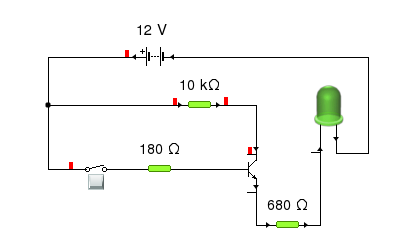 Yenka transistor switch